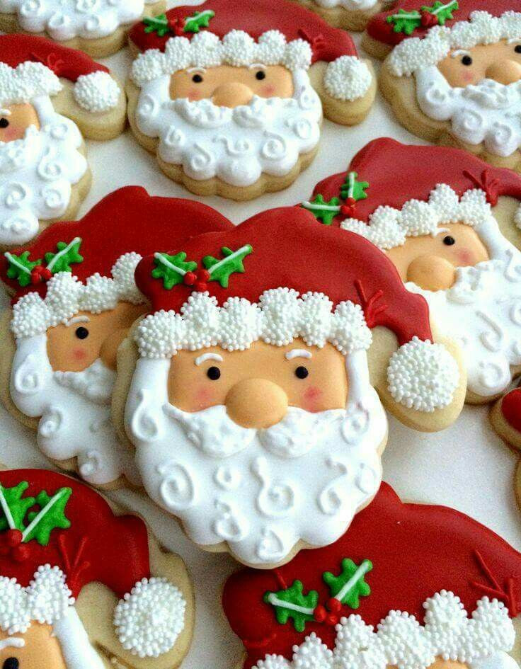Santa Christmas Cookies  Best 25 Santa cookies ideas on Pinterest
