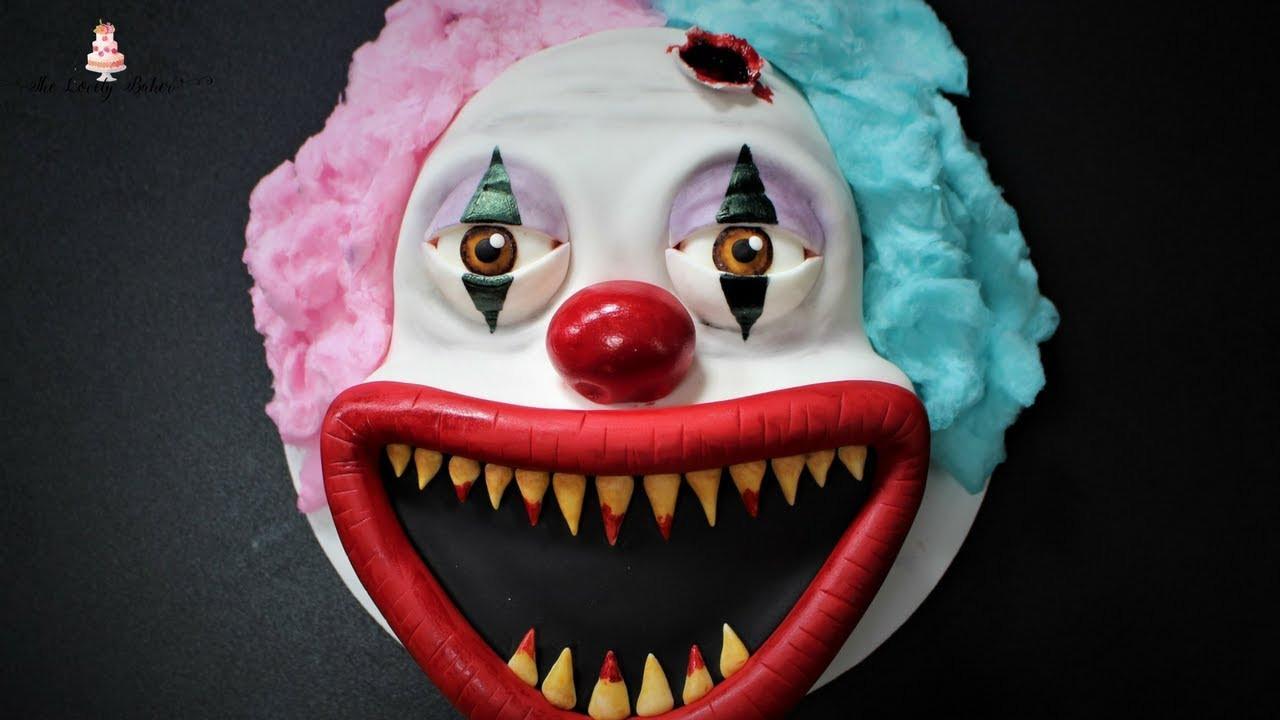 Scary Halloween Cakes  Creepy Scary Clown Halloween Cake Tutorial