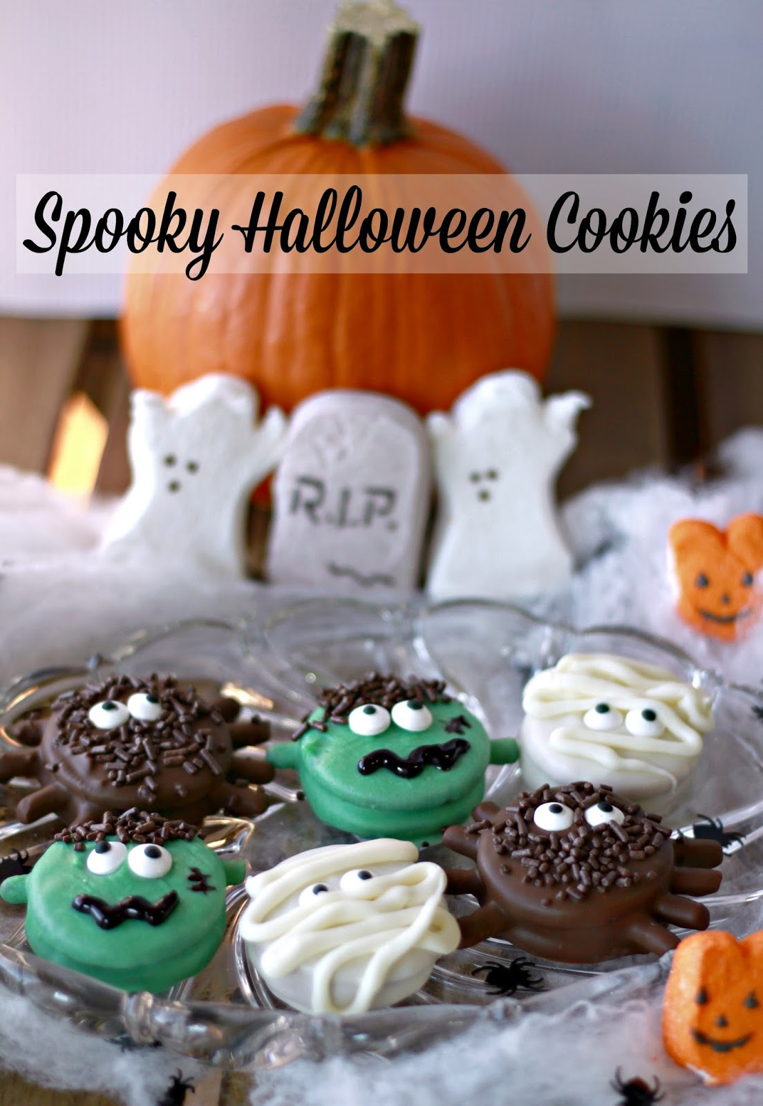 Scary Halloween Cookies  Crazy for Cookies and more Spooky Halloween Cookies