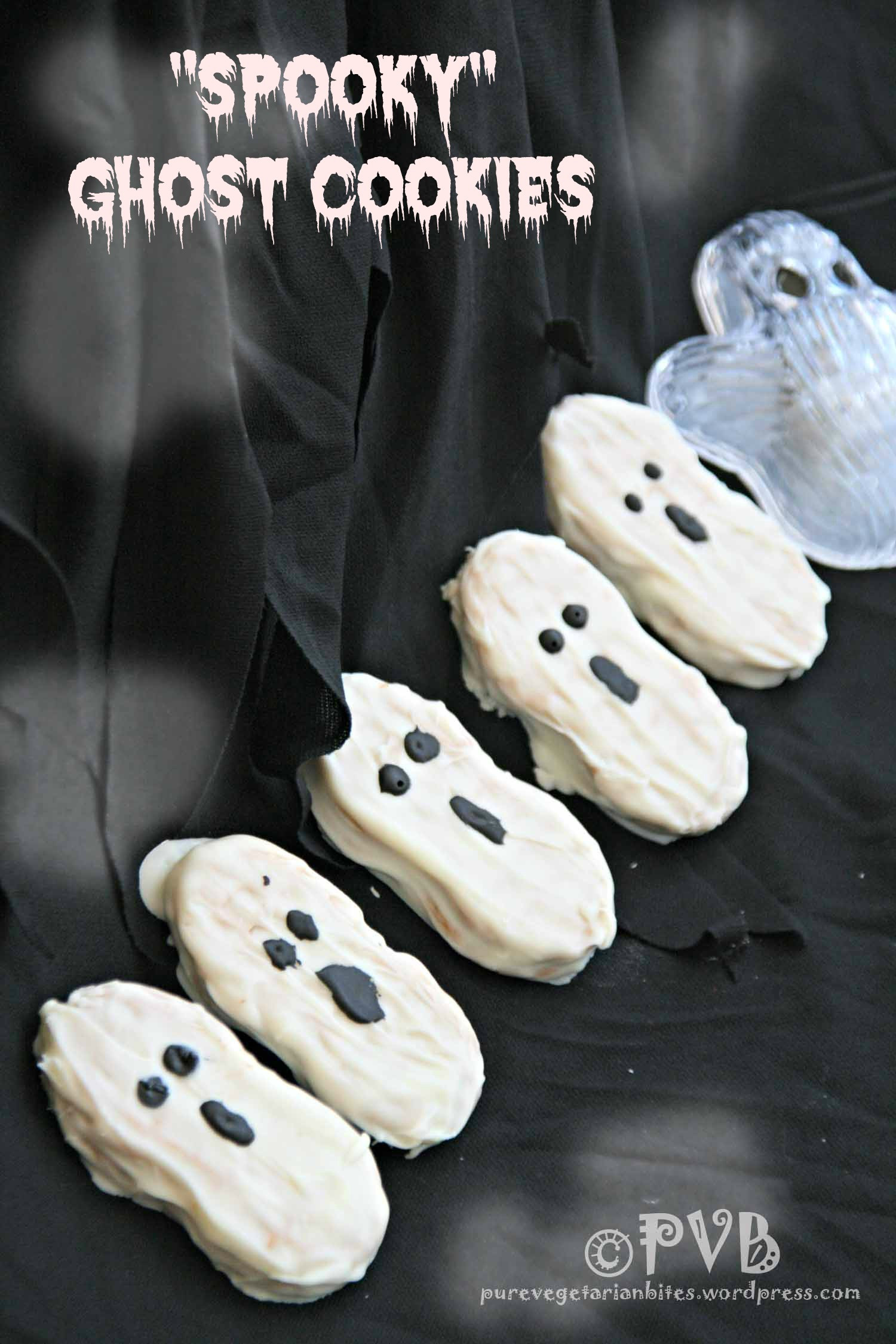 "Scary Halloween Cookies  Halloween Treats Simply ""Spooky"" Ghost Cookies"
