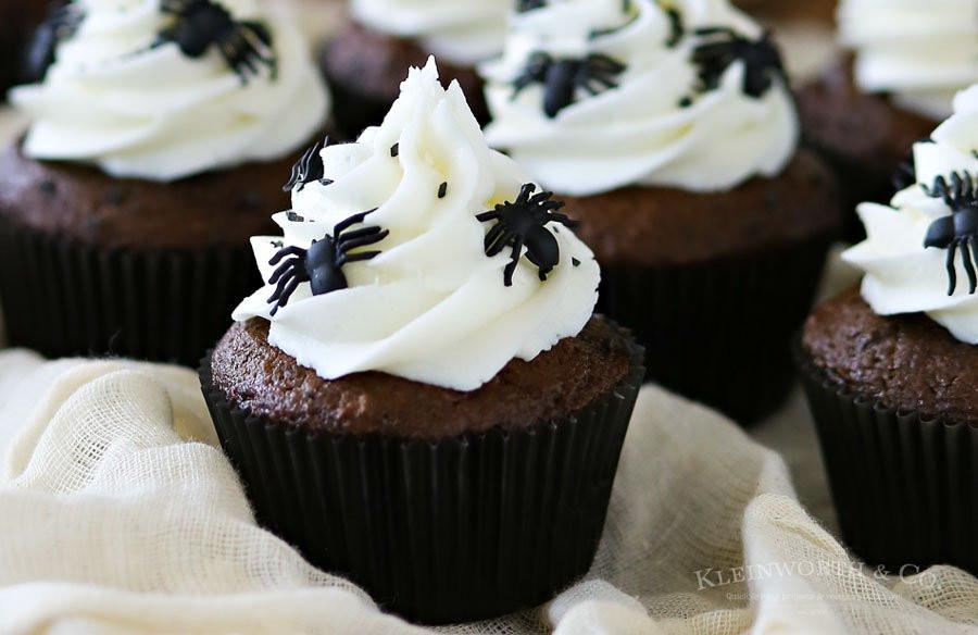 Scary Halloween Cupcakes  Creepy Halloween Spider Cupcakes Kleinworth & Co