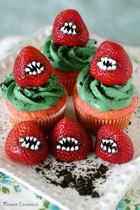 Scary Halloween Cupcakes  Halloween Recipes Monster Treats The 36th AVENUE