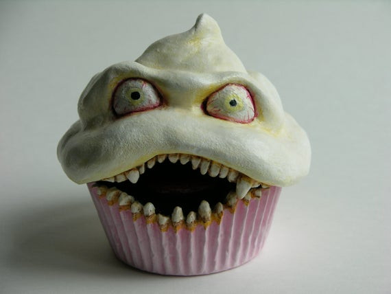Scary Halloween Cupcakes  Items similar to Vicious Cupcake No 17 Summer Solstice