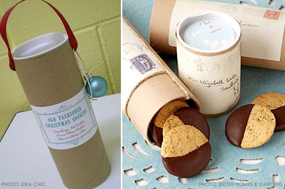 Send Christmas Cookies  Cookie Packaging Idea Mailing Tubes I m going to send