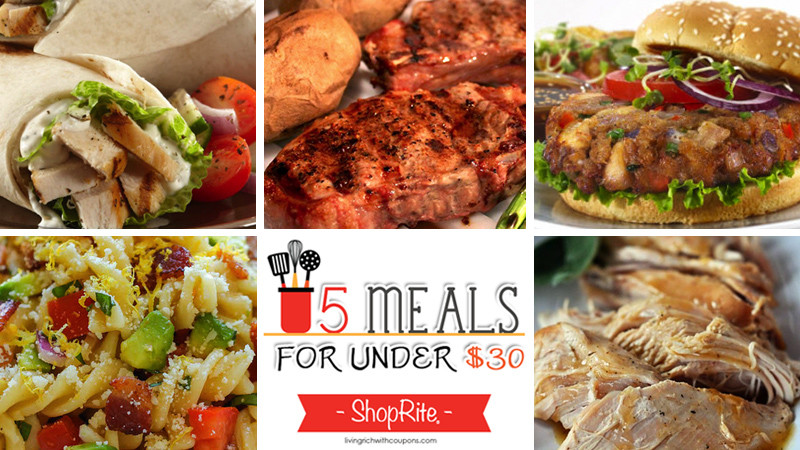 Shoprite Thanksgiving Dinner  5 Meals for Under $30 at ShopRite Week ending 8 15 15