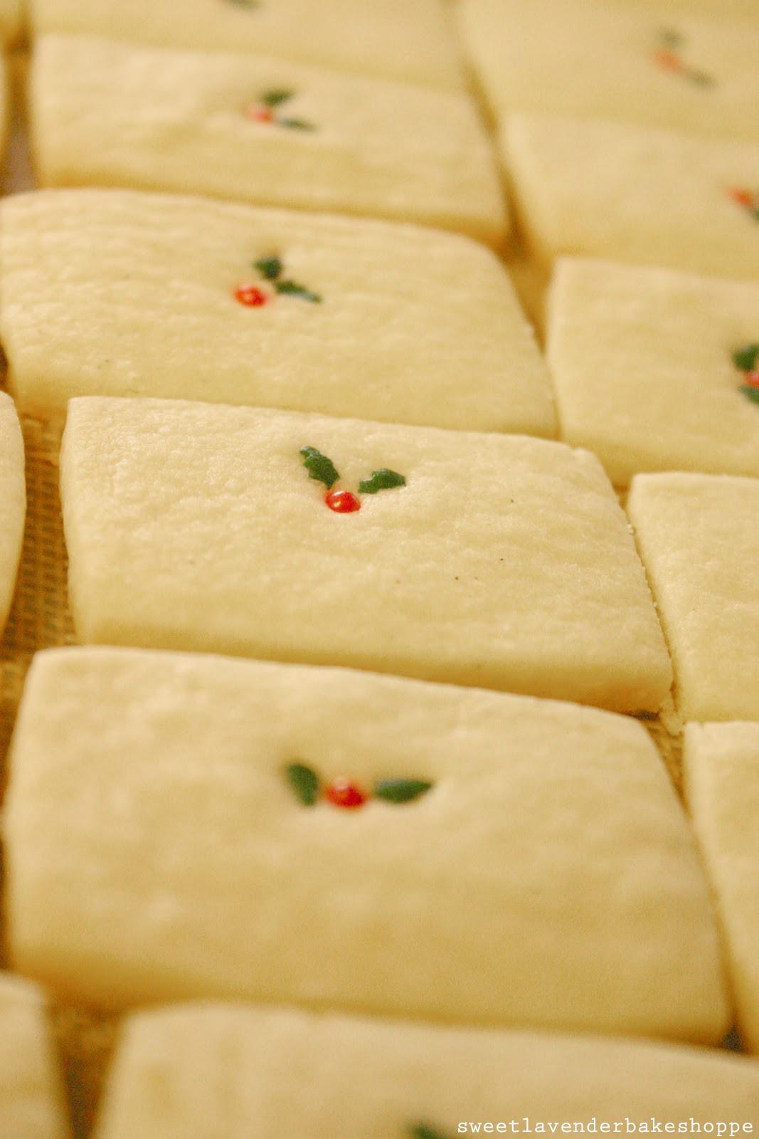 Shortbread Cookies Christmas  Sweet Lavender Bake Shoppe recipe vanilla bean