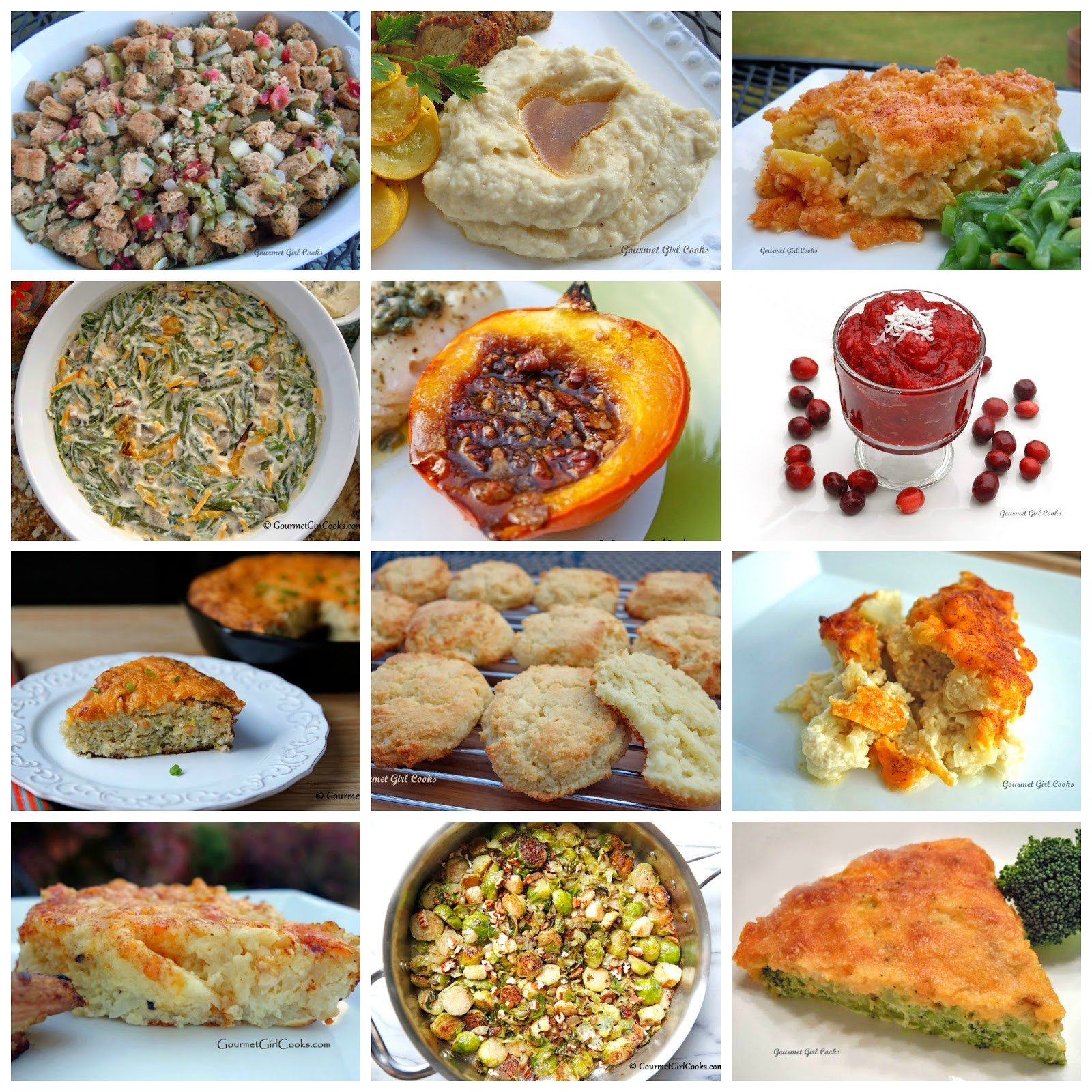 Side Dishes For Thanksgiving  Gourmet Girl Cooks 12 Thanksgiving Side Dish Recipes