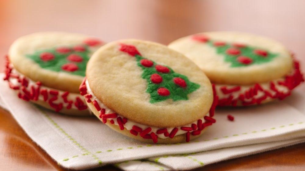 Simple Christmas Cookies Recipes  Christmas Tree Sandwich Cookies recipe from Pillsbury