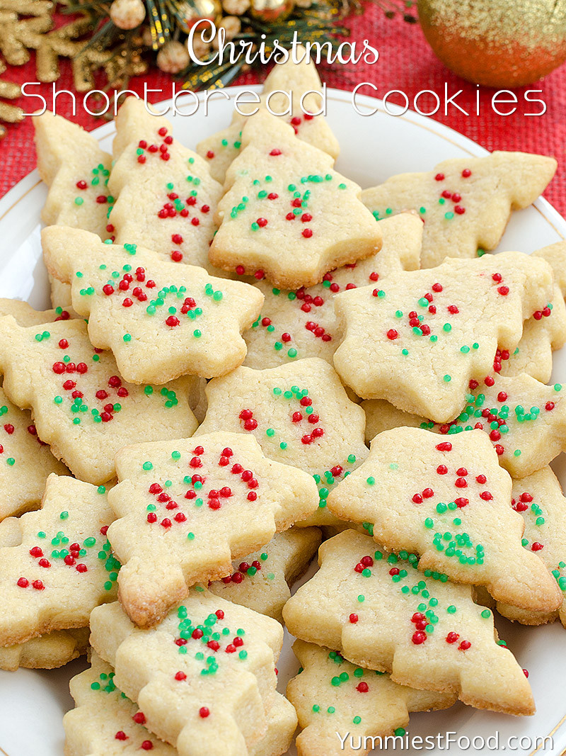 Simple Christmas Cookies Recipes  Christmas Shortbread Cookies Recipe from Yummiest Food