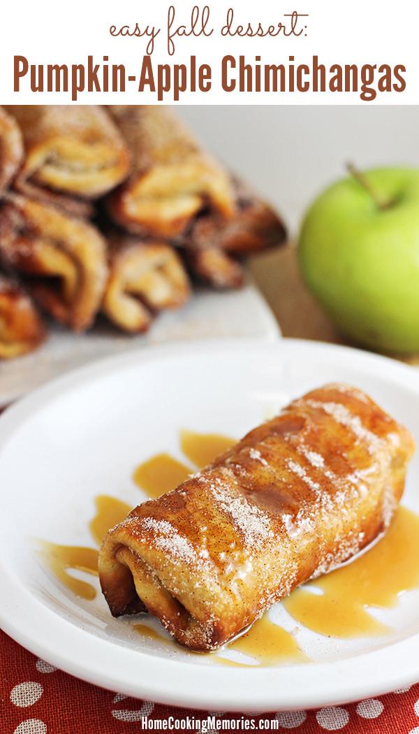 Simple Fall Desserts  Easy Fall Dessert Pumpkin Apple Chimichanga Recipe Home