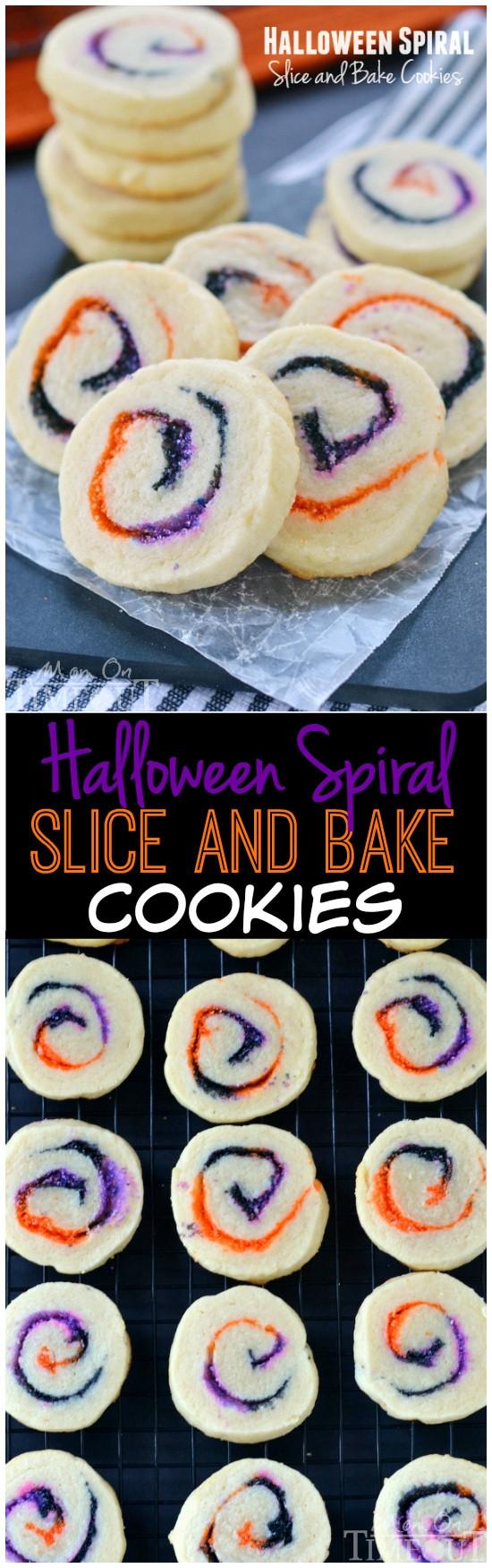 Slice And Bake Halloween Cookies  Halloween Spiral Slice and Bake Cookies Mom Timeout