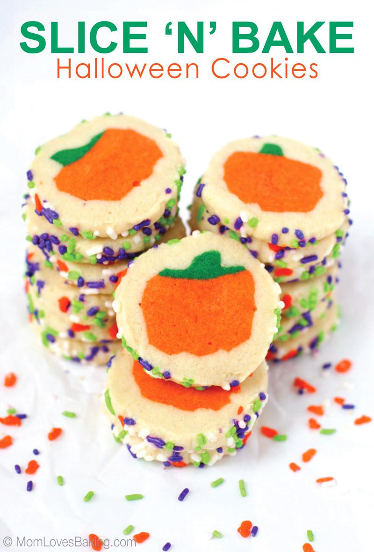 Slice And Bake Halloween Cookies  Slice n Bake Halloween Cookies I Dig Pinterest