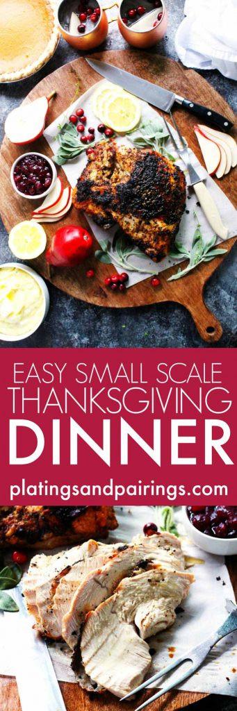 Small Thanksgiving Dinner  Easy Small Scale Thanksgiving Dinner