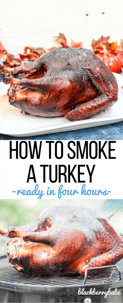 Smoke A Turkey For Thanksgiving  How to Smoke a Whole Turkey for Thanksgiving Blackberry Babe