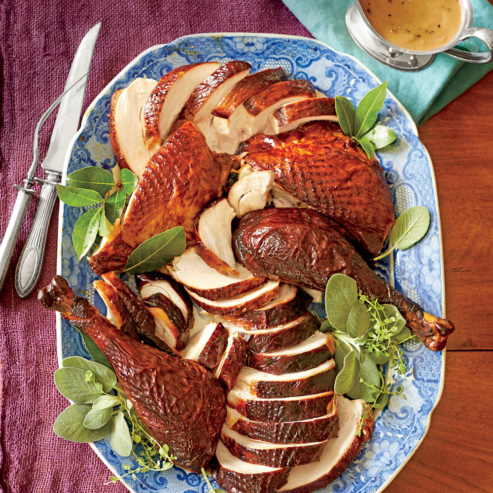 Smoked Thanksgiving Turkey Recipe  Dry Brined and Marinated Smoked Turkey Recipe
