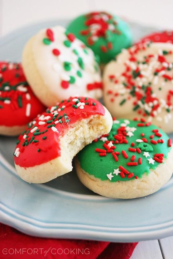 Soft Christmas Cookies Recipe  Sugar cookies Easy decorations and House on Pinterest