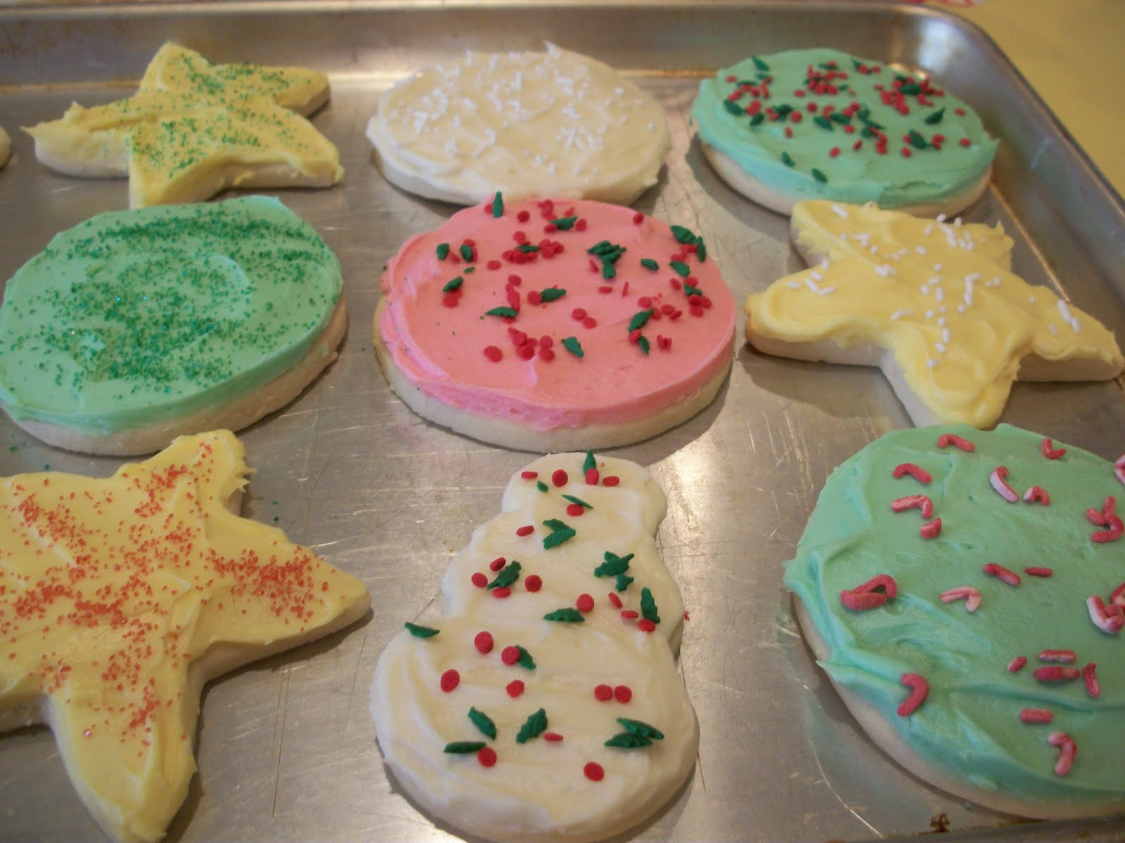 Soft Christmas Sugar Cookies  Lark s Country Heart Soft Christmas Sugar Cookies w