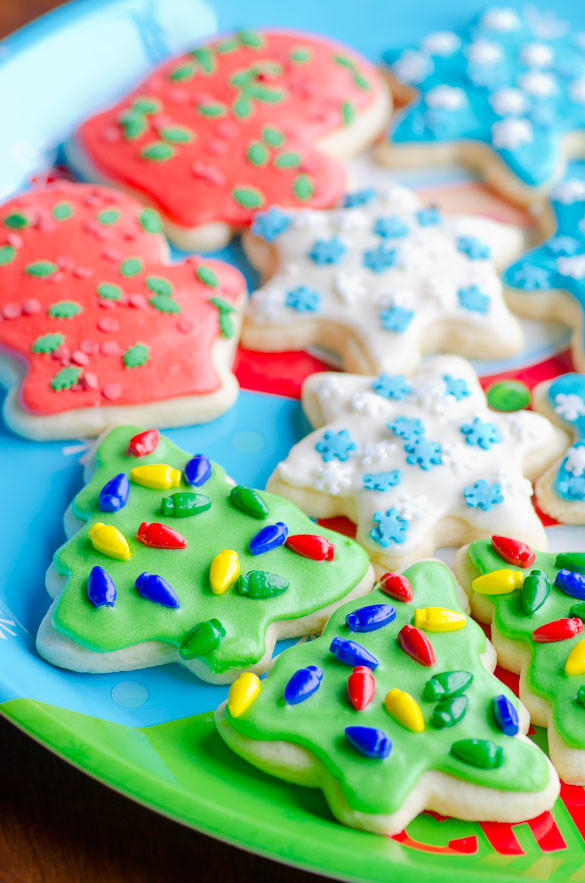 Soft Christmas Sugar Cookies  Soft Christmas Cut Out Sugar Cookies with Easy Icing