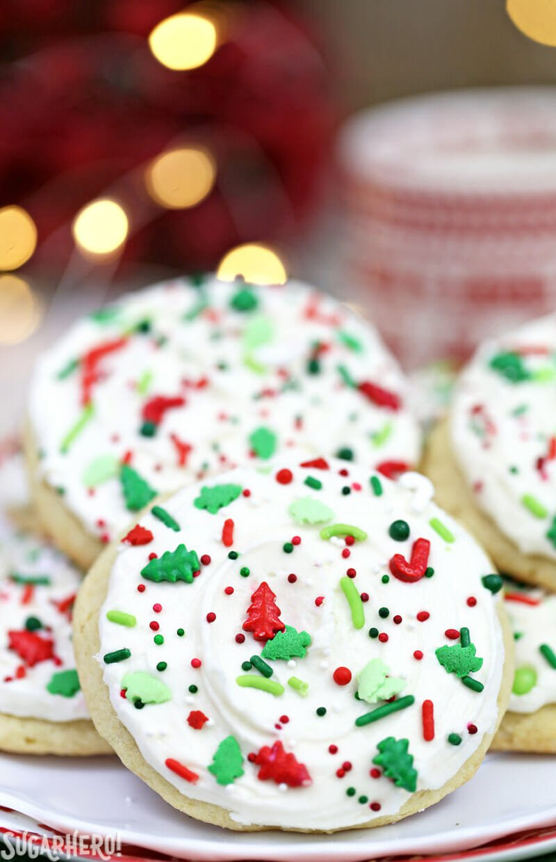 Soft Christmas Sugar Cookies  Big Soft Sugar Cookies SugarHero