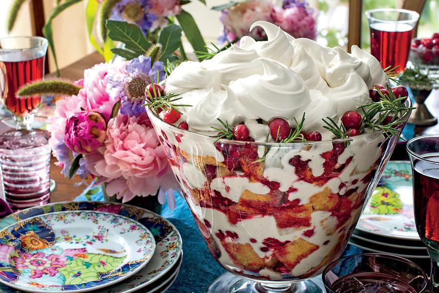 Southern Christmas Desserts  Cherry Spice Cake Trifle Splurge Worthy Thanksgiving
