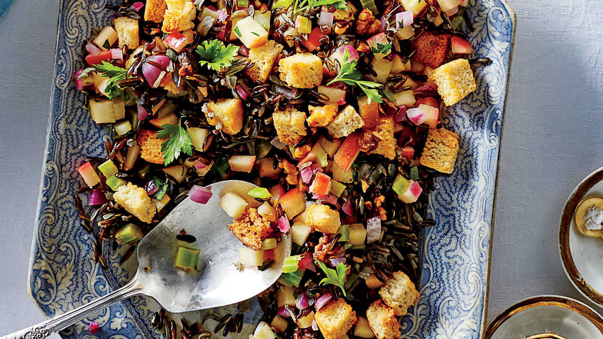Southern Thanksgiving Side Dishes  Herbed Wild Rice Dressing Recipe Southern Living