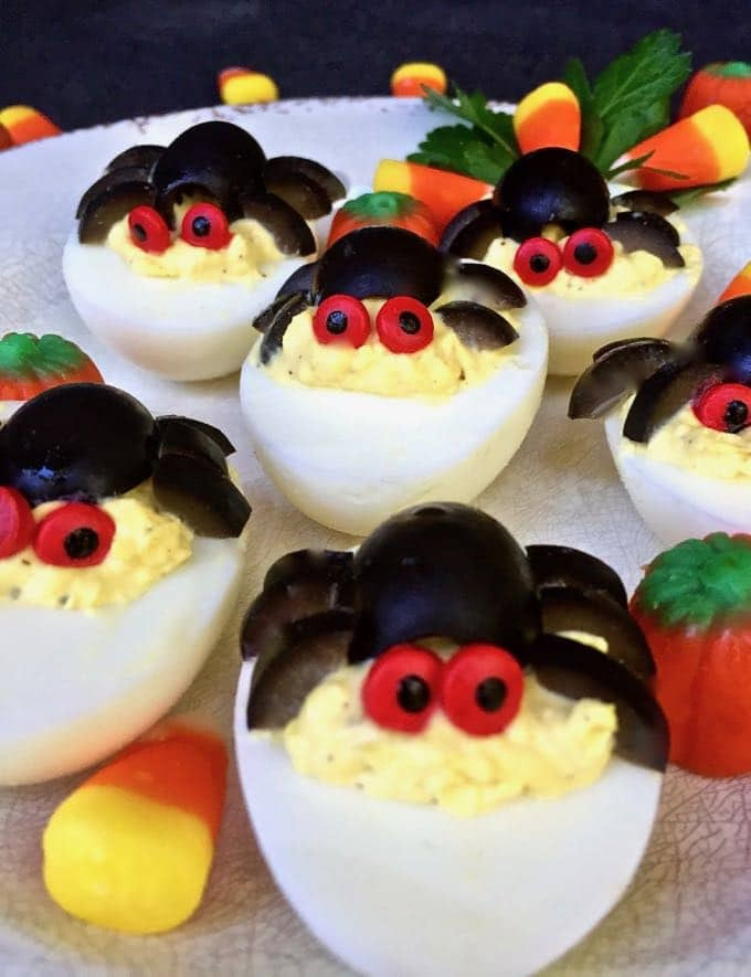 Spooky Deviled Eggs Halloween  Halloween Spooky Spider Deviled Eggs