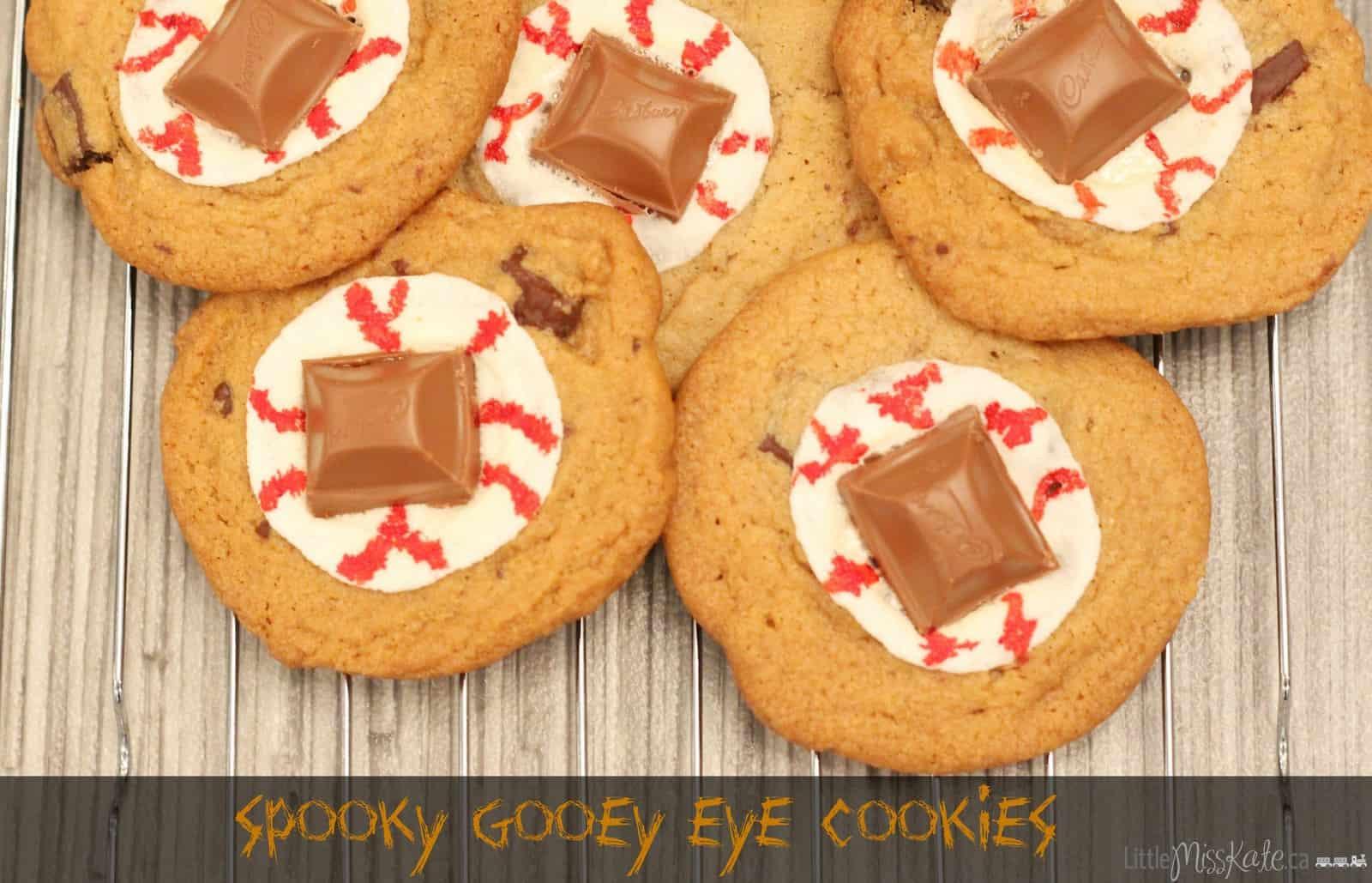 Spooky Halloween Desserts  Halloween Dessert Recipe Spooky Gooey Eye Cookies