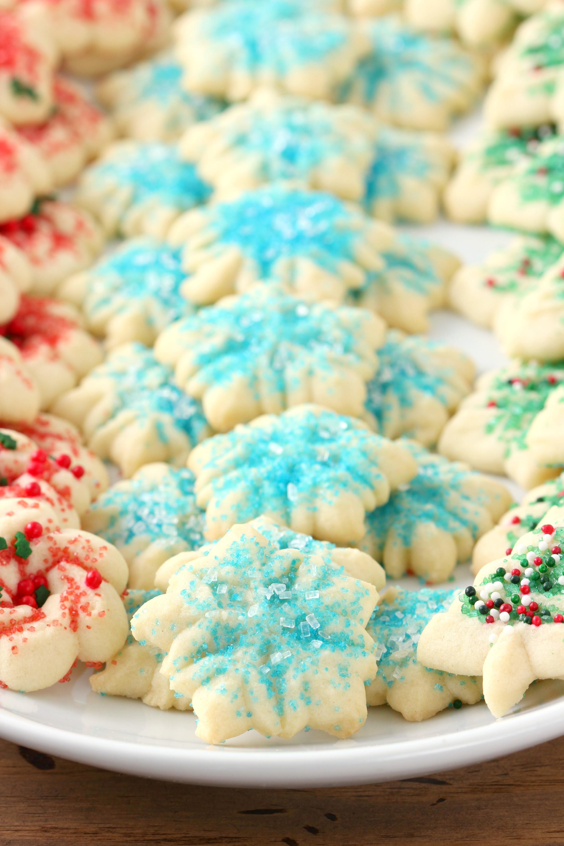 Spritz Christmas Cookies  Classic Spritz Cookies A Kitchen Addiction