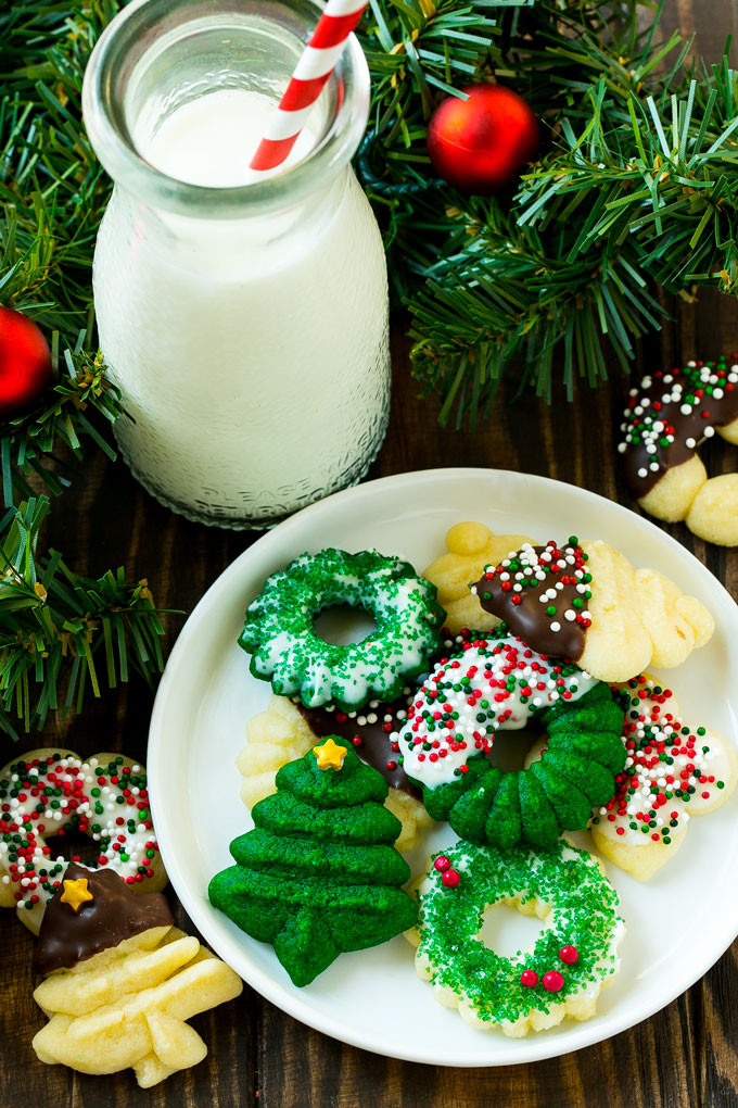Spritz Christmas Cookies  Cream Cheese Spritz Cookies Dinner at the Zoo