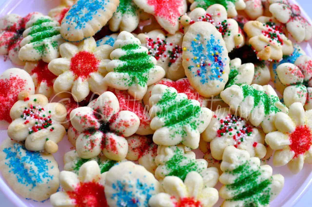 Spritz Christmas Cookies  Christmas Cookiepalooza