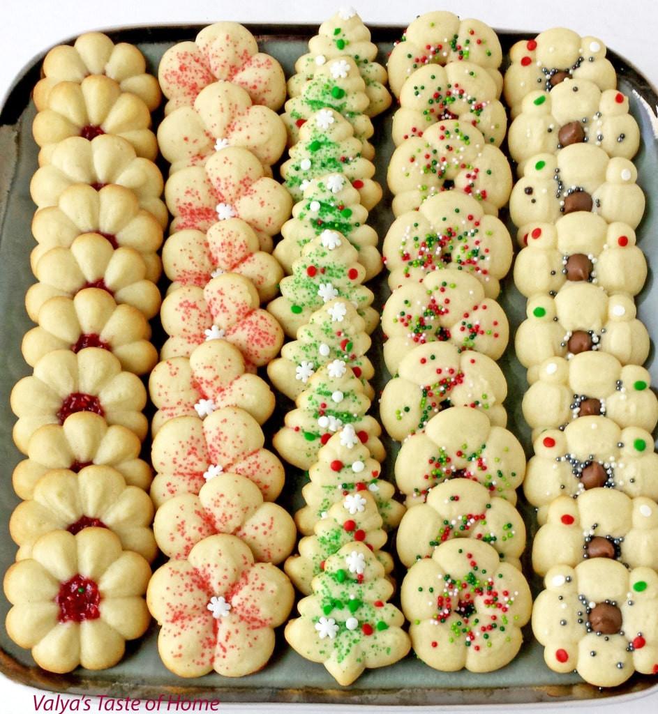 Spritz Christmas Cookies  Christmas Spritz Cookies Valya s Taste of Home