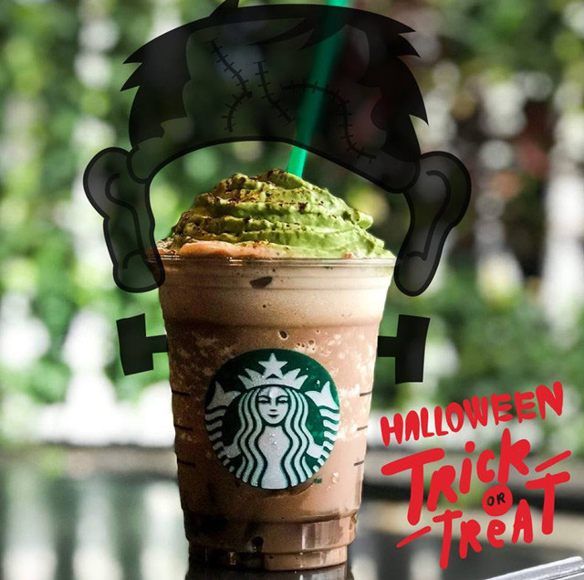 Starbucks Halloween Drinks  Starbucks Launches Franken Frappuccino for Halloween