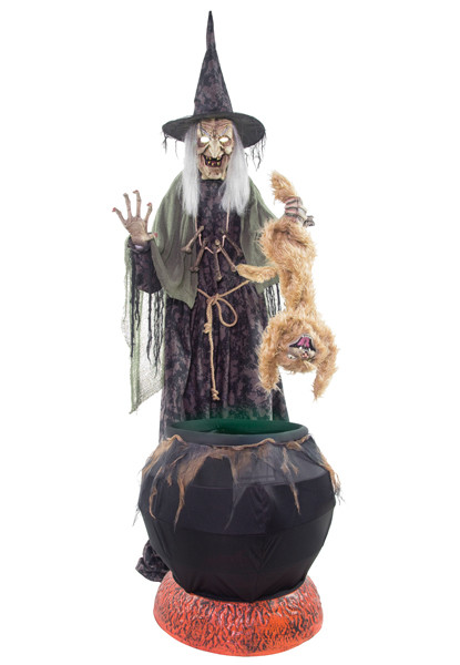 Stew Brew Witch And Child Animated Halloween Decoration  Crazy For Costumes La Casa De Los Trucos 305 858 5029