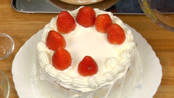Strawberry Christmas Cake  Christmas Cake Recipe Strawberry Sponge Cake – Cooking