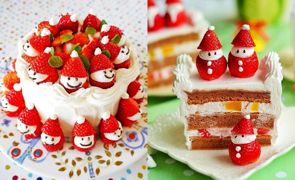 Strawberry Christmas Cake  Wonderful DIY Cute Santa Strawberry Cake