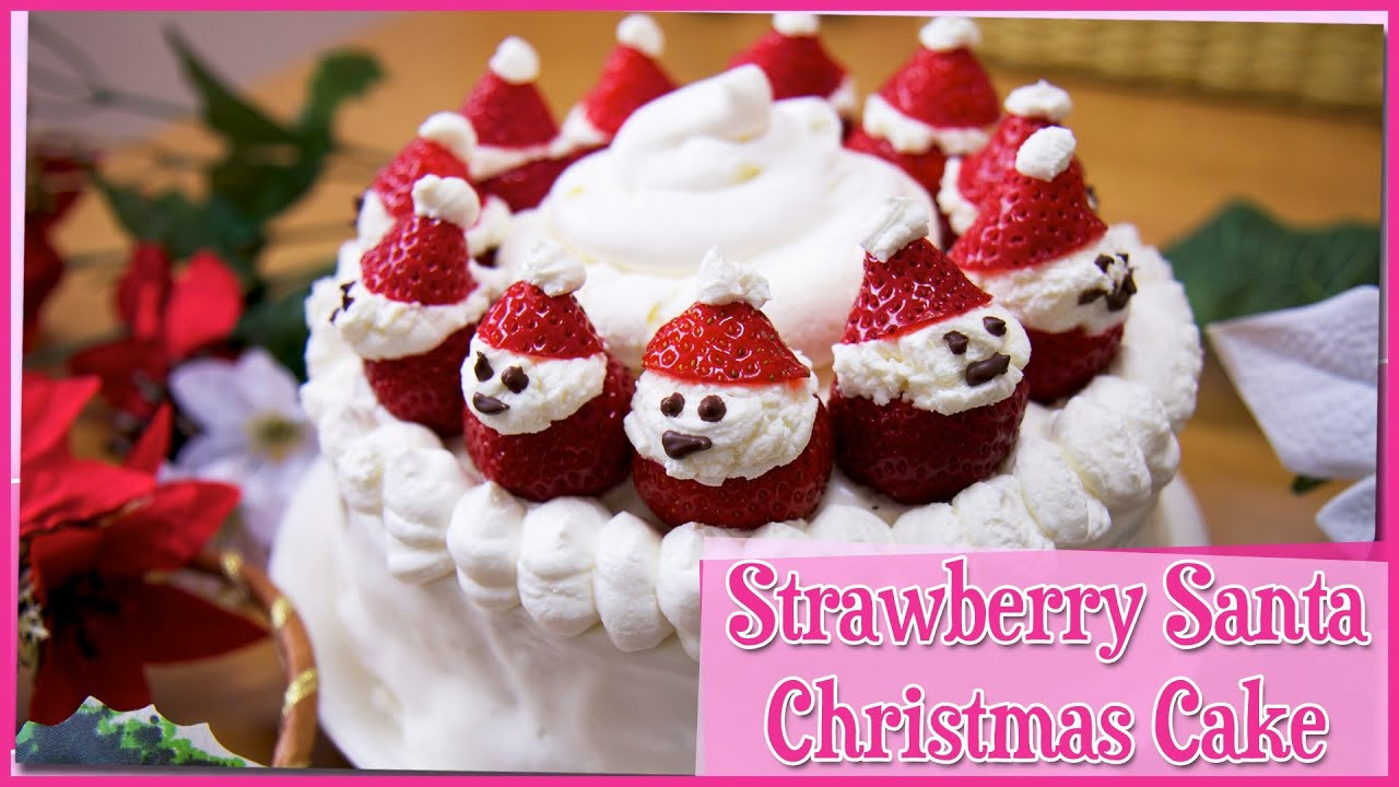Strawberry Christmas Cake  Strawberry Christmas Cake 12 Days of Christmas