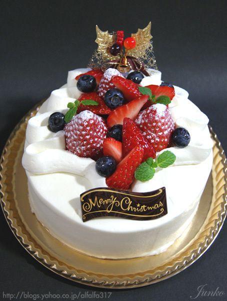 Strawberry Christmas Cake  Christmas Strawberry Sponge Cake recipe in Japanese