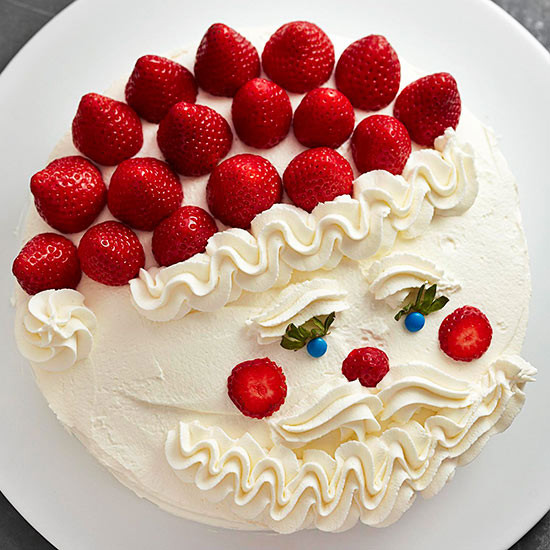 Strawberry Christmas Cake  Santa Cake