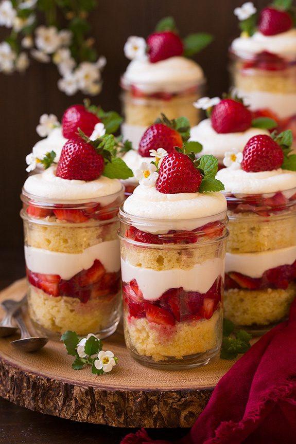 Strawberry Christmas Cake  Strawberry Shortcake Trifles Cooking Classy