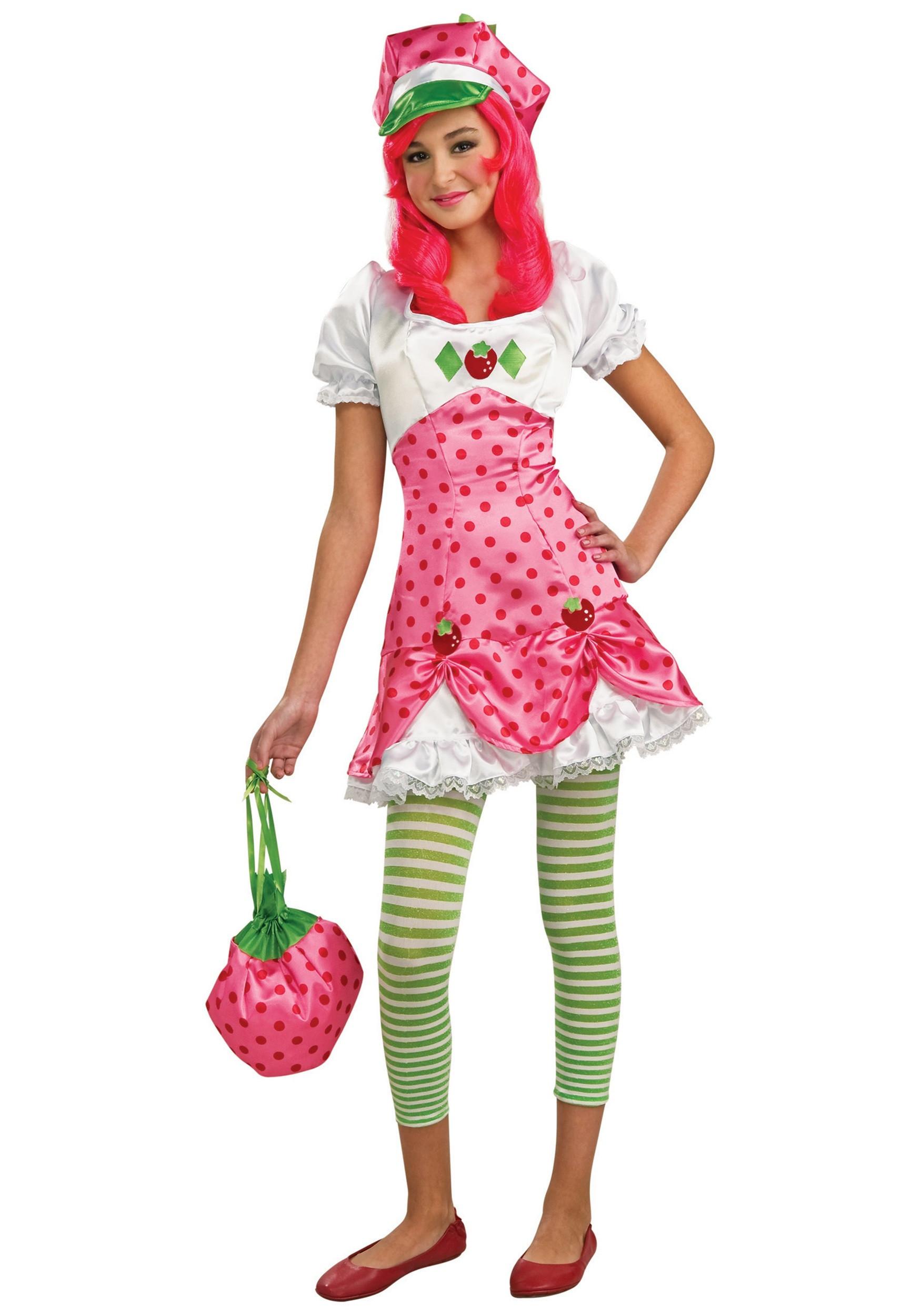 Strawberry Short Cake Halloween  Deluxe Strawberry Shortcake Costume Kids Tween Halloween