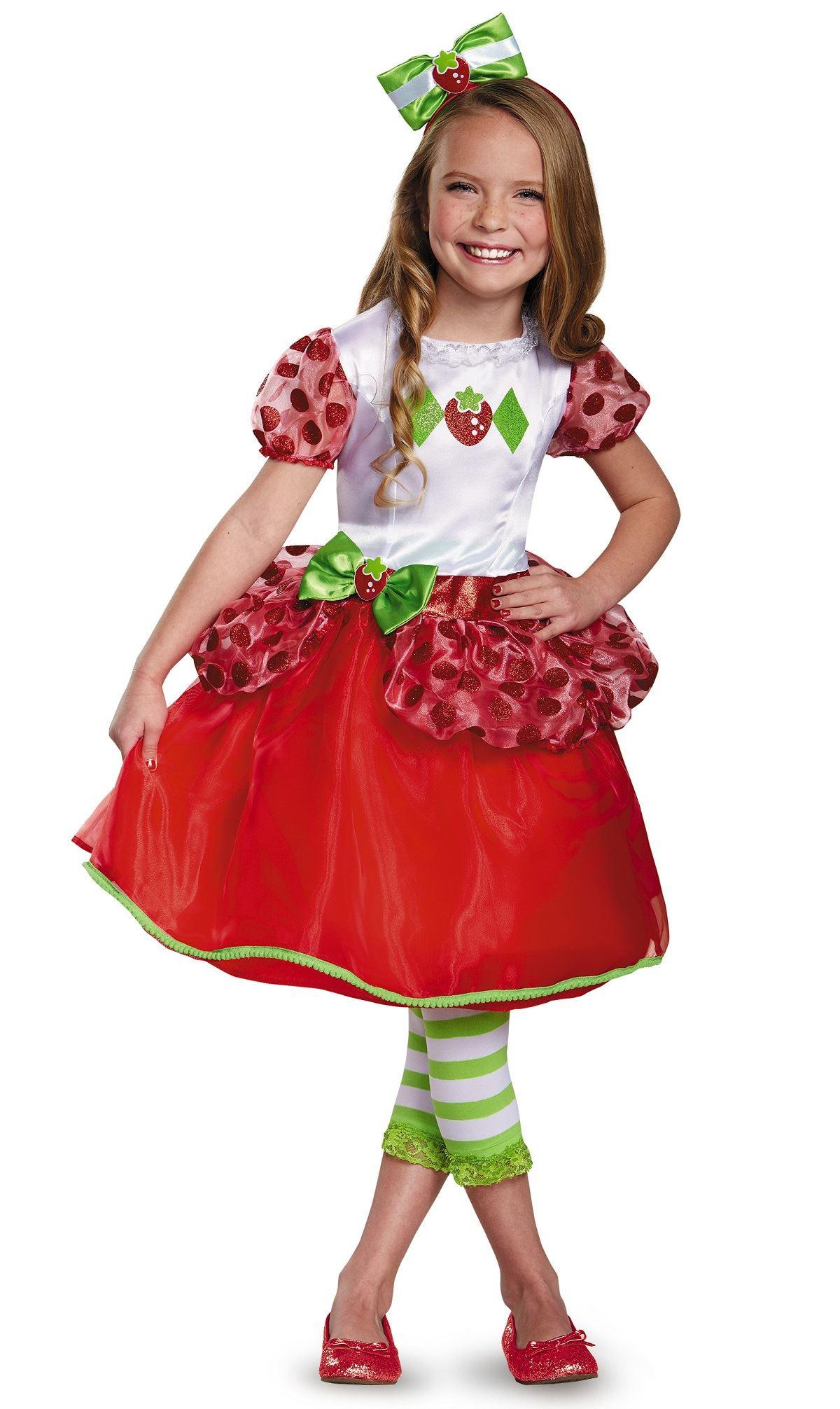 Strawberry Short Cake Halloween  Kids Strawberry Shortcake Girls Costume $37 99