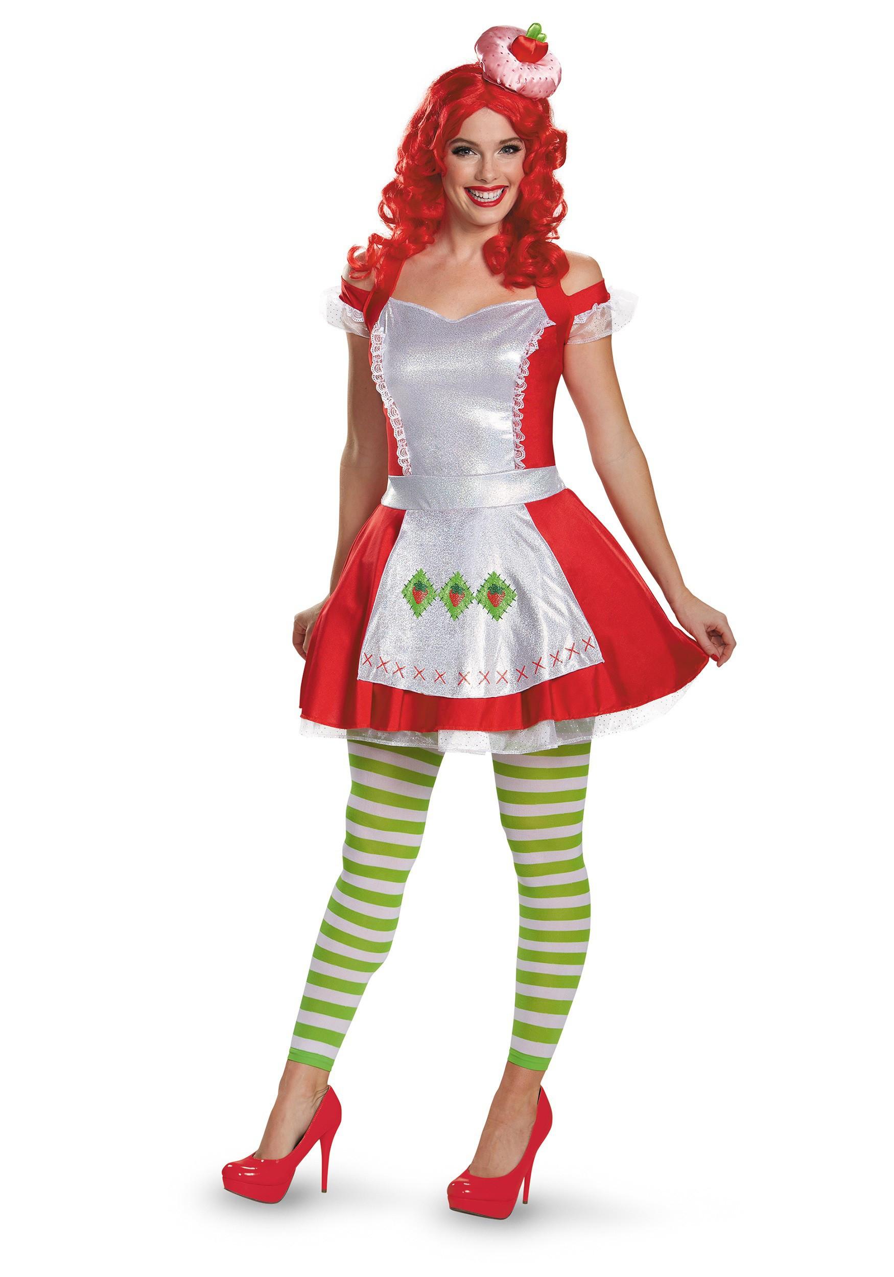 Strawberry Short Cake Halloween  Strawberry Shortcake Deluxe Adult Costume