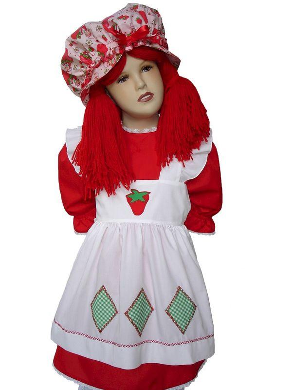 Strawberry Short Cake Halloween  Custom Boutique Halloween STRAWBERRY SHORTCAKE Girl s