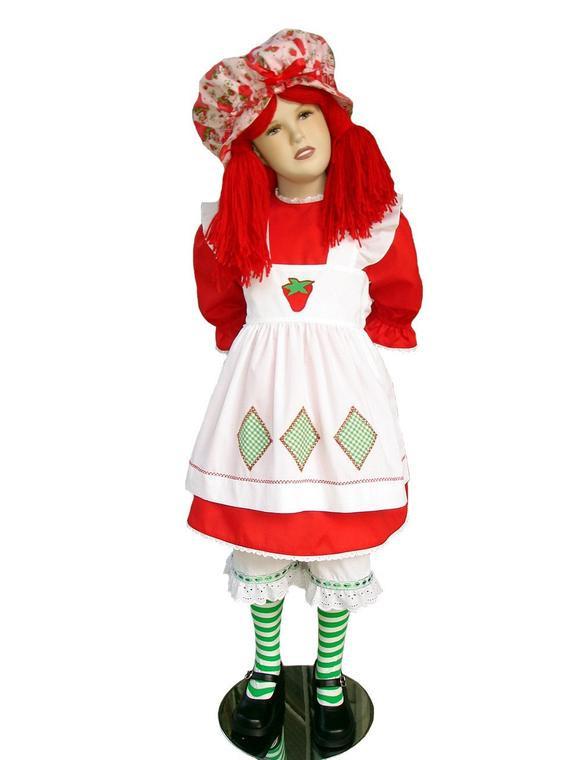 Strawberry Short Cake Halloween  Custom Boutique Halloween STRAWBERRY SHORTCAKE Girl Size