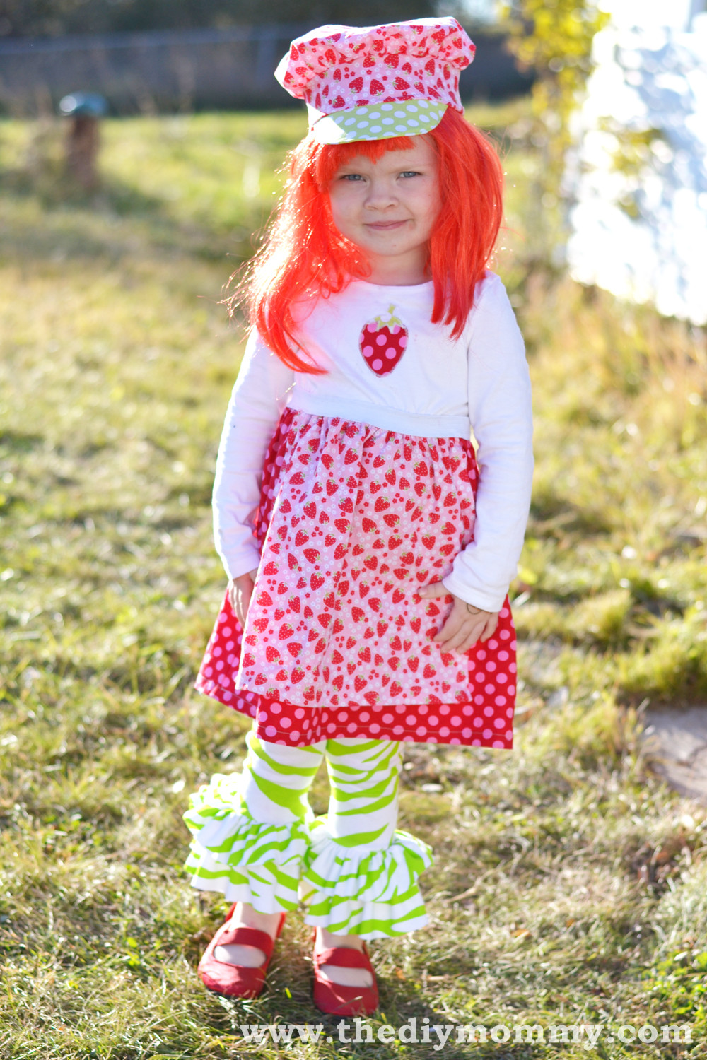Strawberry Shortcake Halloween Costume  Sew a Strawberry Shortcake Costume
