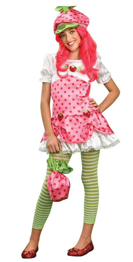 Strawberry Shortcake Halloween Costumes  STRAWBERRY SHORTCAKE Adult Teen Costume Halloween 6 10