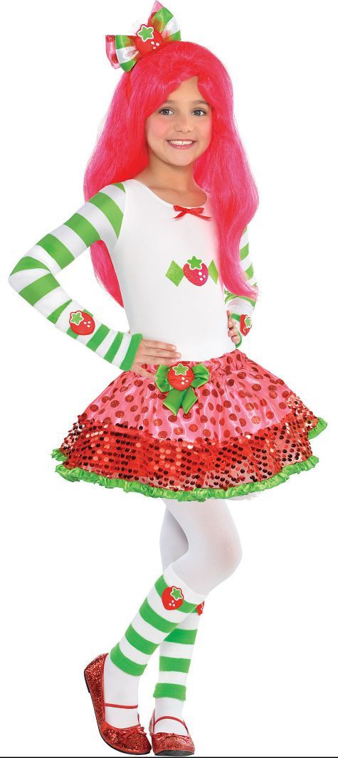 Strawberry Shortcake Halloween Costumes  Girls Strawberry Shortcake Costume Party City