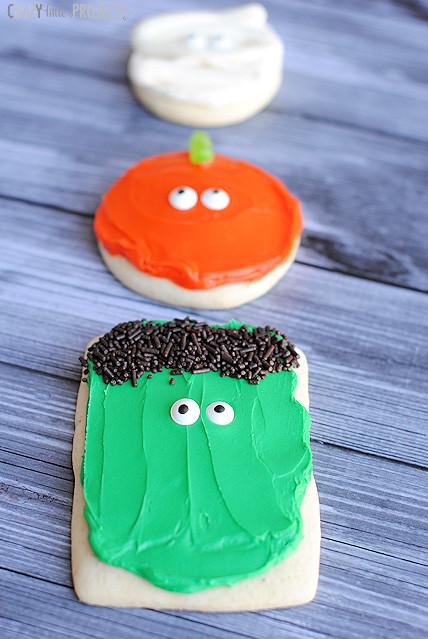 Sugar Cookies Halloween  Easy Halloween Sugar Cookies Pumpkins Mummies & More
