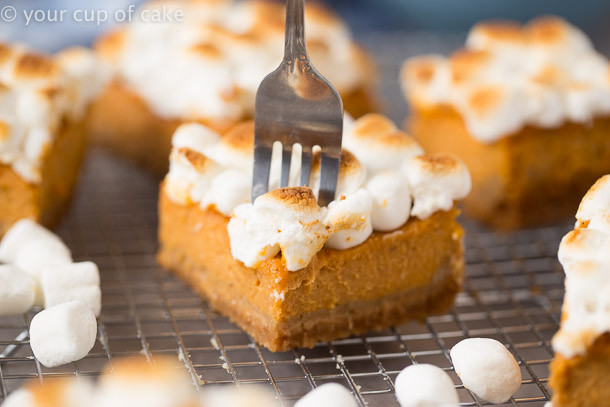 Sweet Potato Pie Thanksgiving  Sweet Potato Pie Bars for Thanksgiving Dessert Your Cup