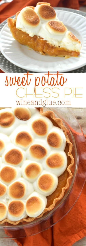 Sweet Potato Pie Thanksgiving  Sweet Potato Chess Pie Wine & Glue